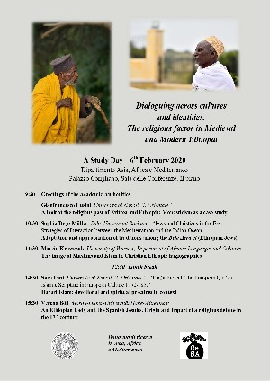 """Study Day: """"Dialoguing across Cultures and Identities. The Religious Factor in Medieval and Modern Ethiopia"""" (6 febbraio 2020)"""